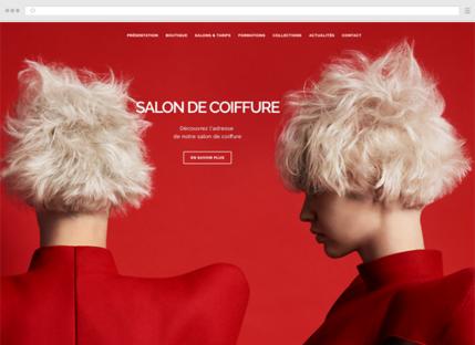 Créer le site de votre salon de coiffure avec webgenie